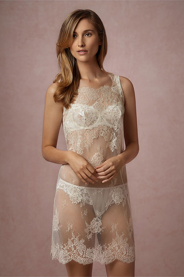 BHLDN Bridal Lingerie Collection - Mae Chantilly Lace Chemise