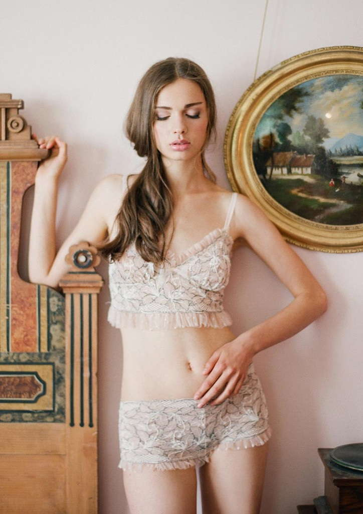 Claire Pettibone Bridal Lingerie Collection - Colette Bralette