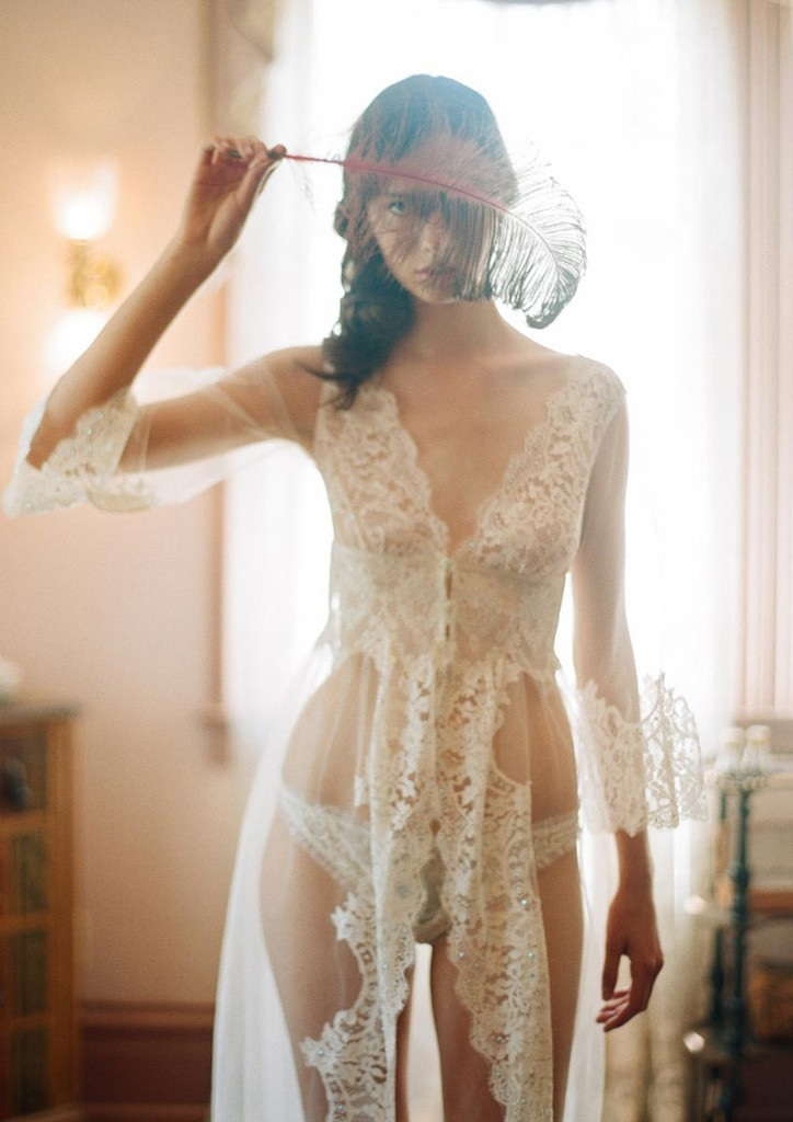 Claire Pettibone Bridal Lingerie Collection - La Scala Robe