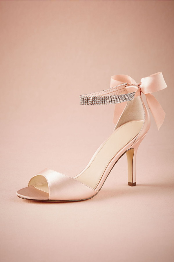 BHLDN 2015 Wedding Shoes   Crystal Bow Heels