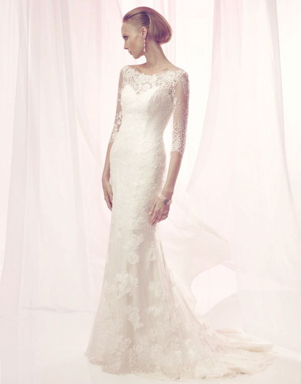 Cb Couture Spring 2017 Elegant Non Beaded French Leavers Lace Gown