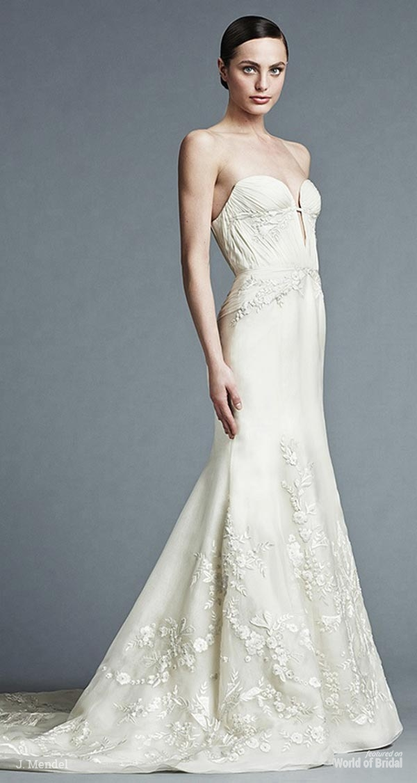 J mendel spring 2015 wedding dresses world of bridal for J mendel wedding dress