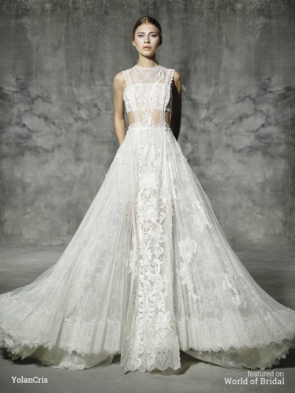 Romantic Lace Collection YolanCris 2016 Wedding Dresses - Romantic Lace Wedding Dress