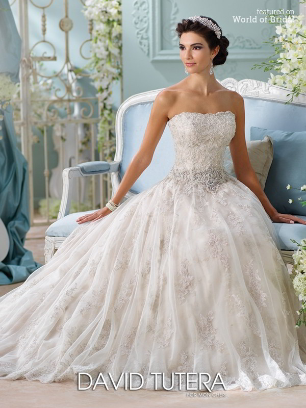 David tutera for mon cheri spring 2016 wedding dresses world of bridal david tutera for mon cheri spring 2016 wedding dress junglespirit Choice Image
