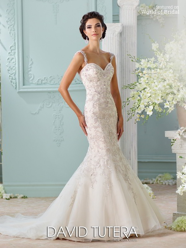 David tutera for mon cheri spring 2016 wedding dresses for Mon cheri wedding dresses 2016