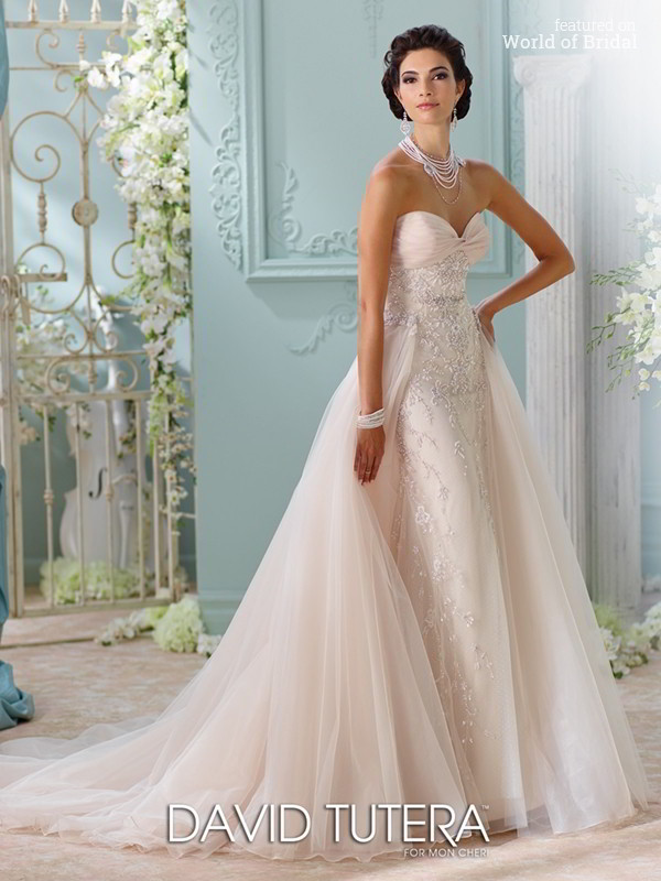 David tutera for mon cheri spring 2016 wedding dresses world of bridal david tutera for mon cheri spring 2016 wedding dress junglespirit Images