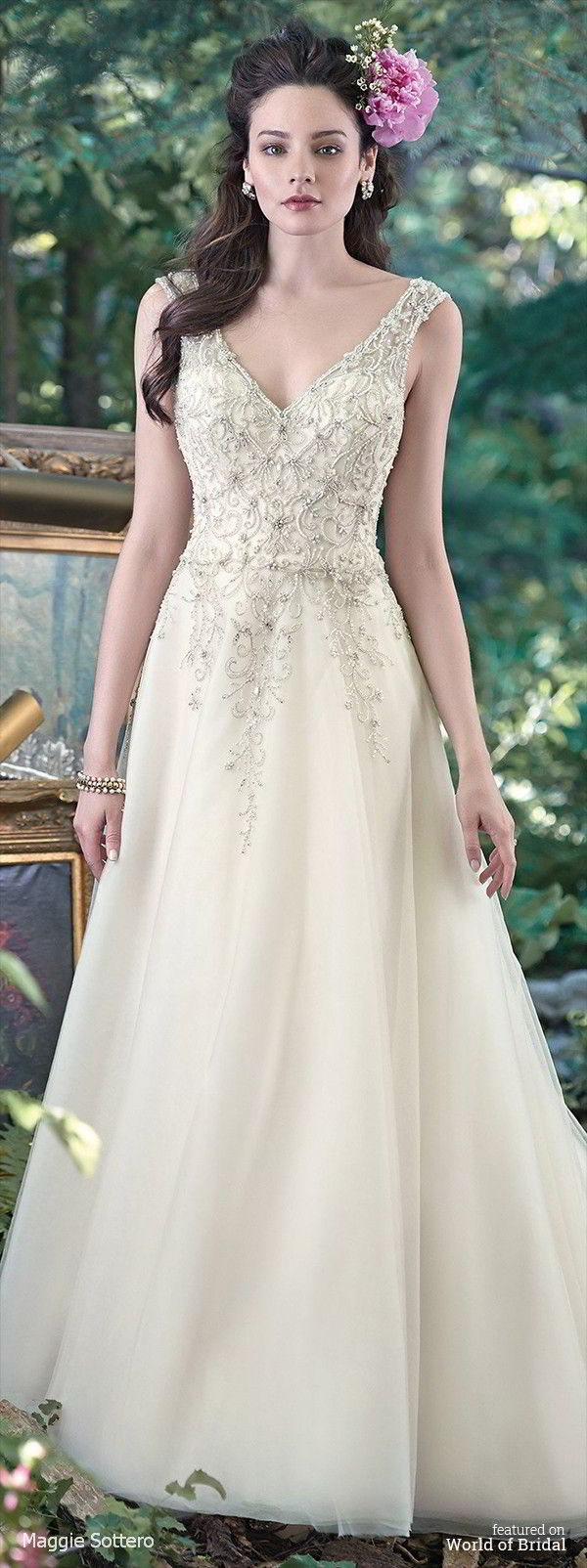Maggie Sottero Spring 2016 A Line Wedding Dress