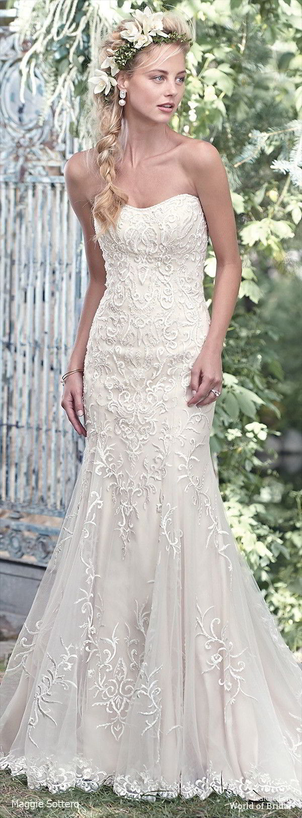 Maggie Sottero Spring 2016 Classic Lace Sheath Wedding Dress
