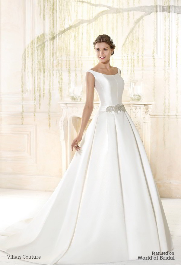 Villais couture 2016 wedding dresses world of bridal for Plain wedding dresses with straps