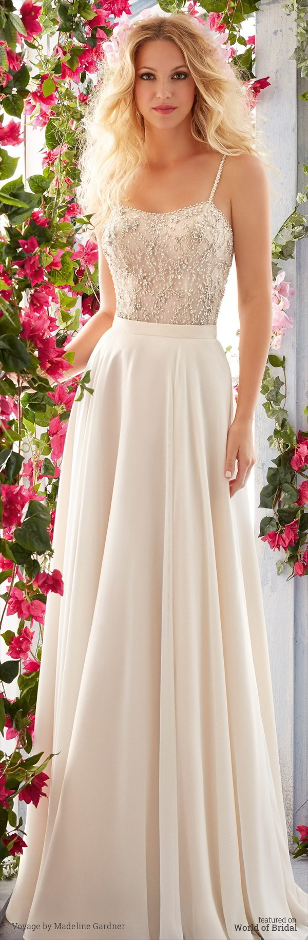 Full Flowing Soft Net Skirt Voyage By Madeline Gardner Spring 2016 Wedding Dress