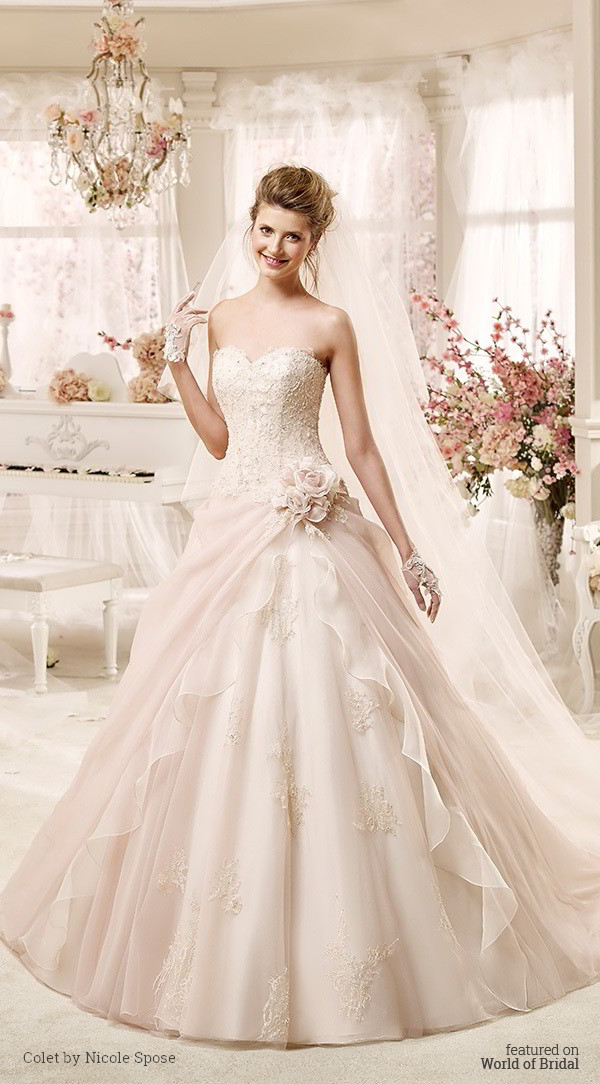 Colet by nicole spose 2016 wedding dresses world of bridal for Nicole spose wedding dress prices