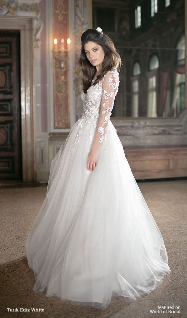 Tarik Ediz White 2016 Wedding Dress