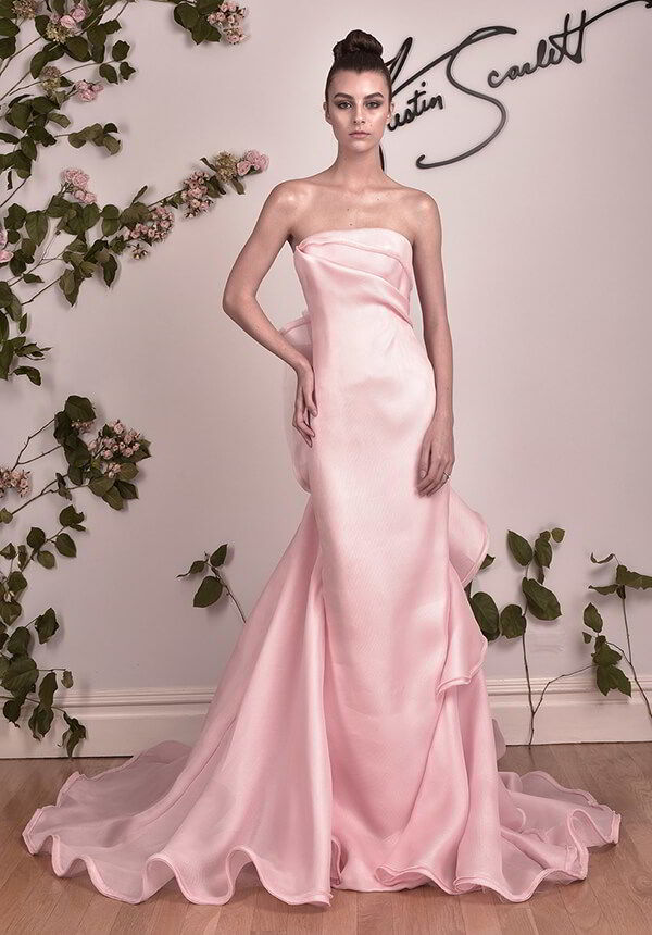 Austin Scarlett Fall 2016 Strapless Column Gown
