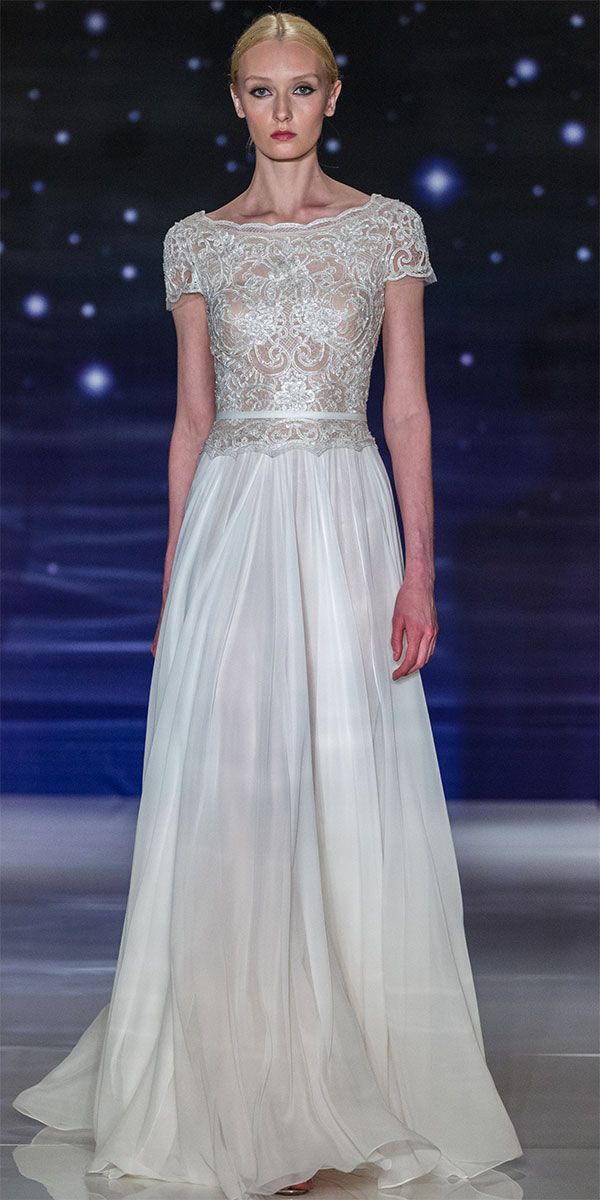 Reem acra spring 2016 wedding dresses world of bridal for Reem acra lace wedding dress