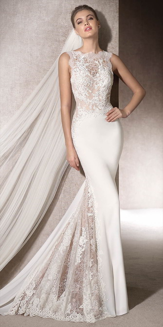 San patrick 2017 wedding dresses world of bridal san patrick 2017 beautiful mermaid wedding dress ombrellifo Image collections