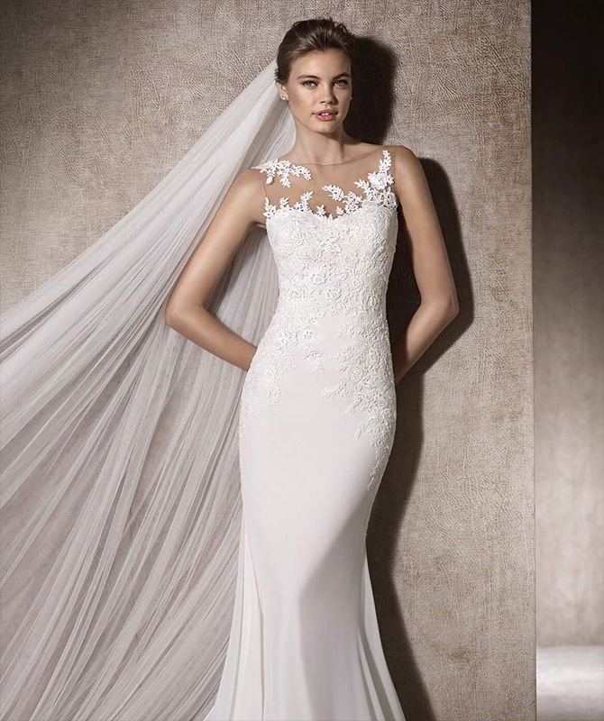 San Patrick 2017 Elegant Mermaid Wedding Dress