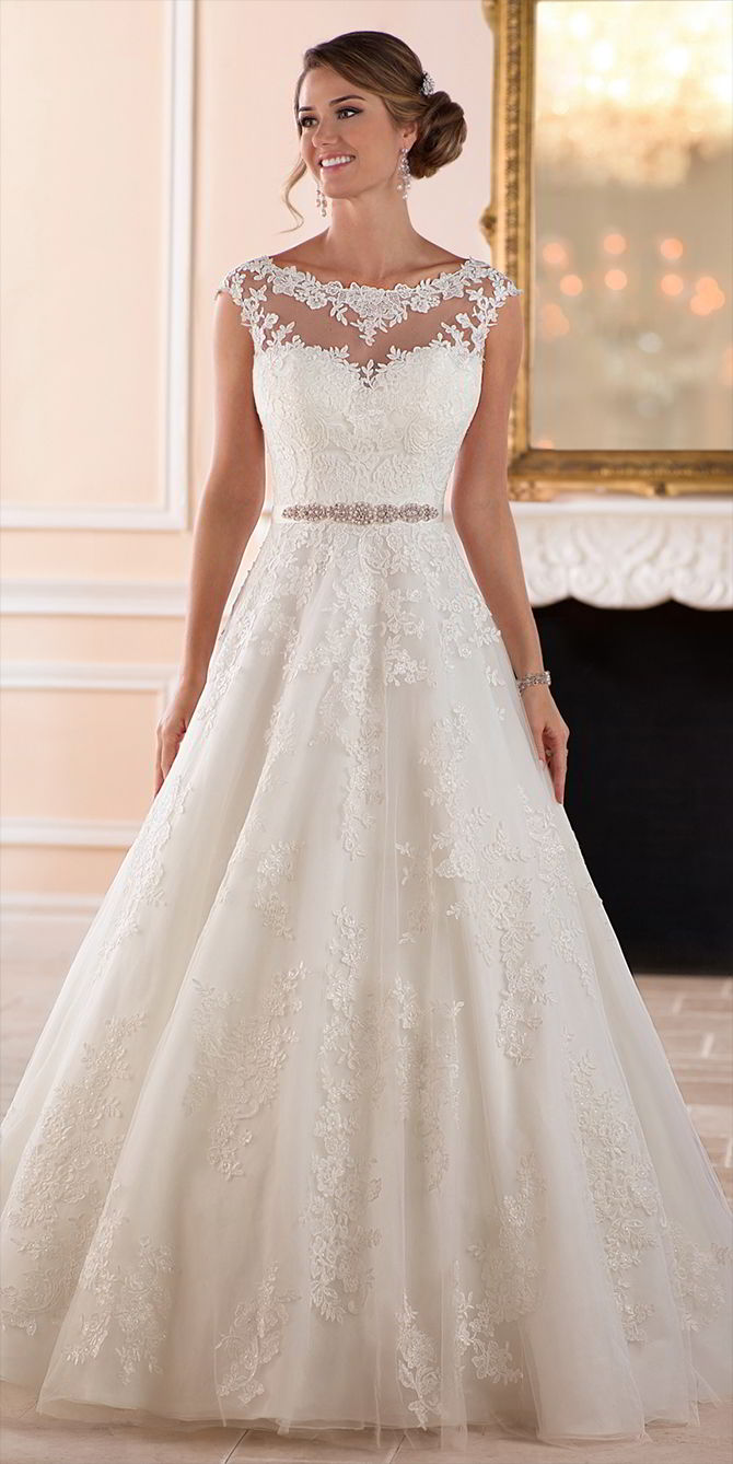 Stella York Spring 2017 Traditional Ball Gown Wedding Dress