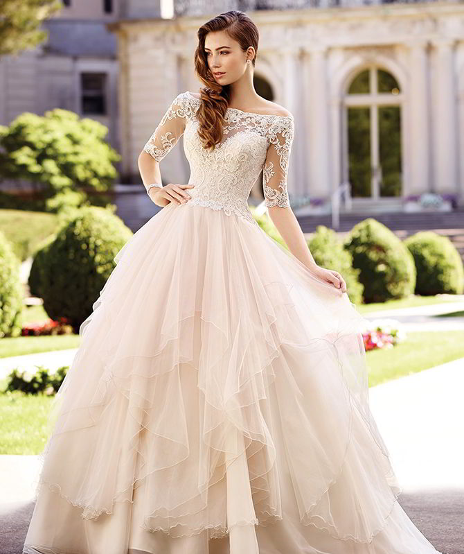 David tutera for mon cheri spring 2017 wedding dresses world of bridal david tutera by mon cheri spring 2017 off the shoulder tulle over organza ball junglespirit Images