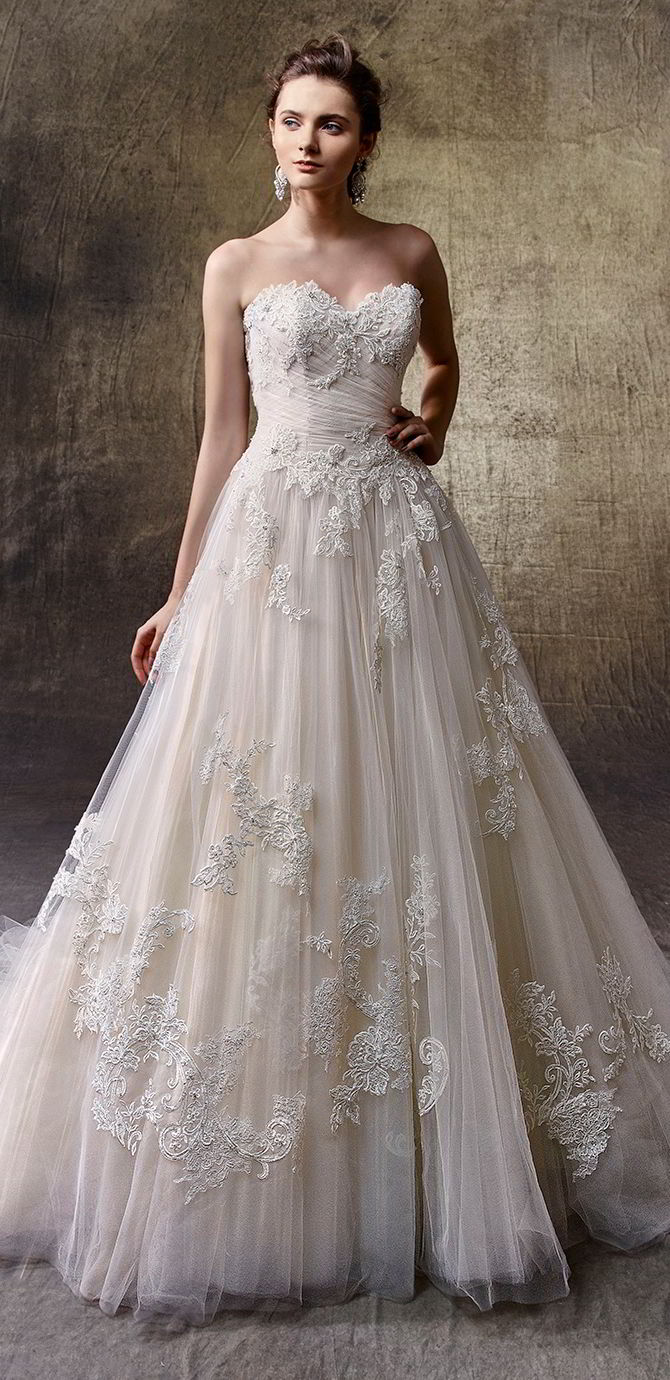 Enzoani 2017 Full Length A Line Wedding Gown