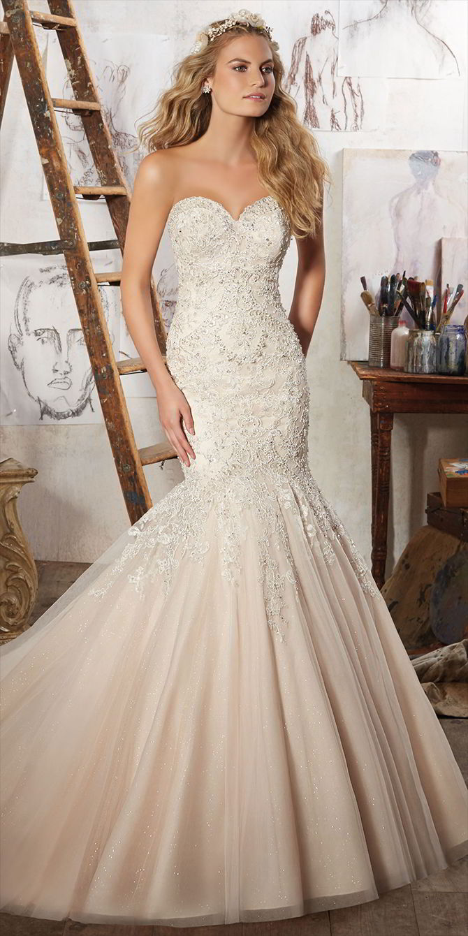Mori Lee by Madeline Gardner Spring 2017 Stunning Mermaid Bridal Gown
