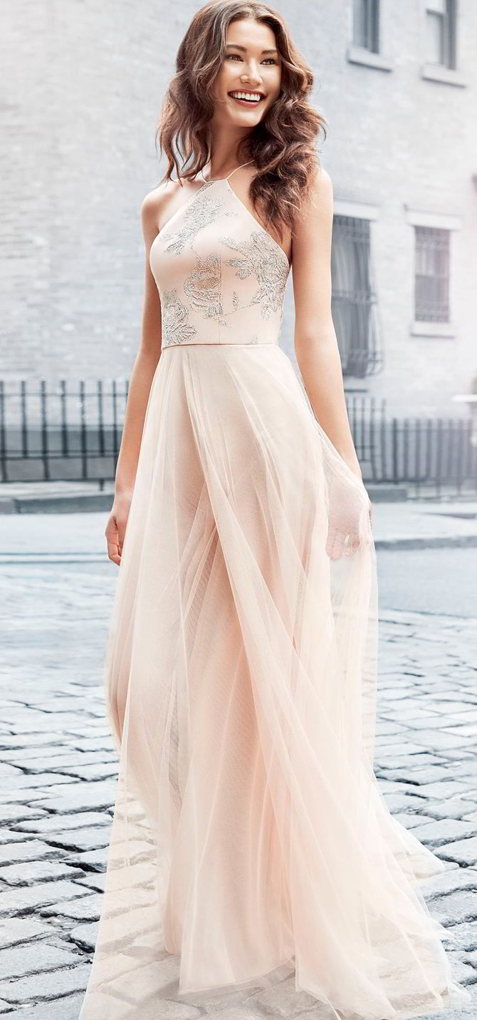 Hayley paige occasions spring 2017 bridesmaids dresses world of hayley paige occasions spring 2017 dusty rose english net a line bridesmaid gown ombrellifo Choice Image