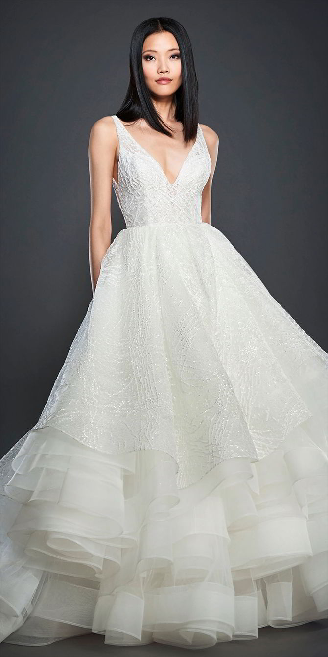 Lazaro Spring 2017 Wedding Dresses - World of Bridal