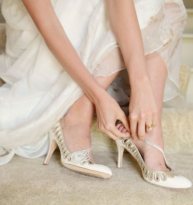 Wedding Shoes - Morden Hall Styled Wedding - Eva Tarnok Photography