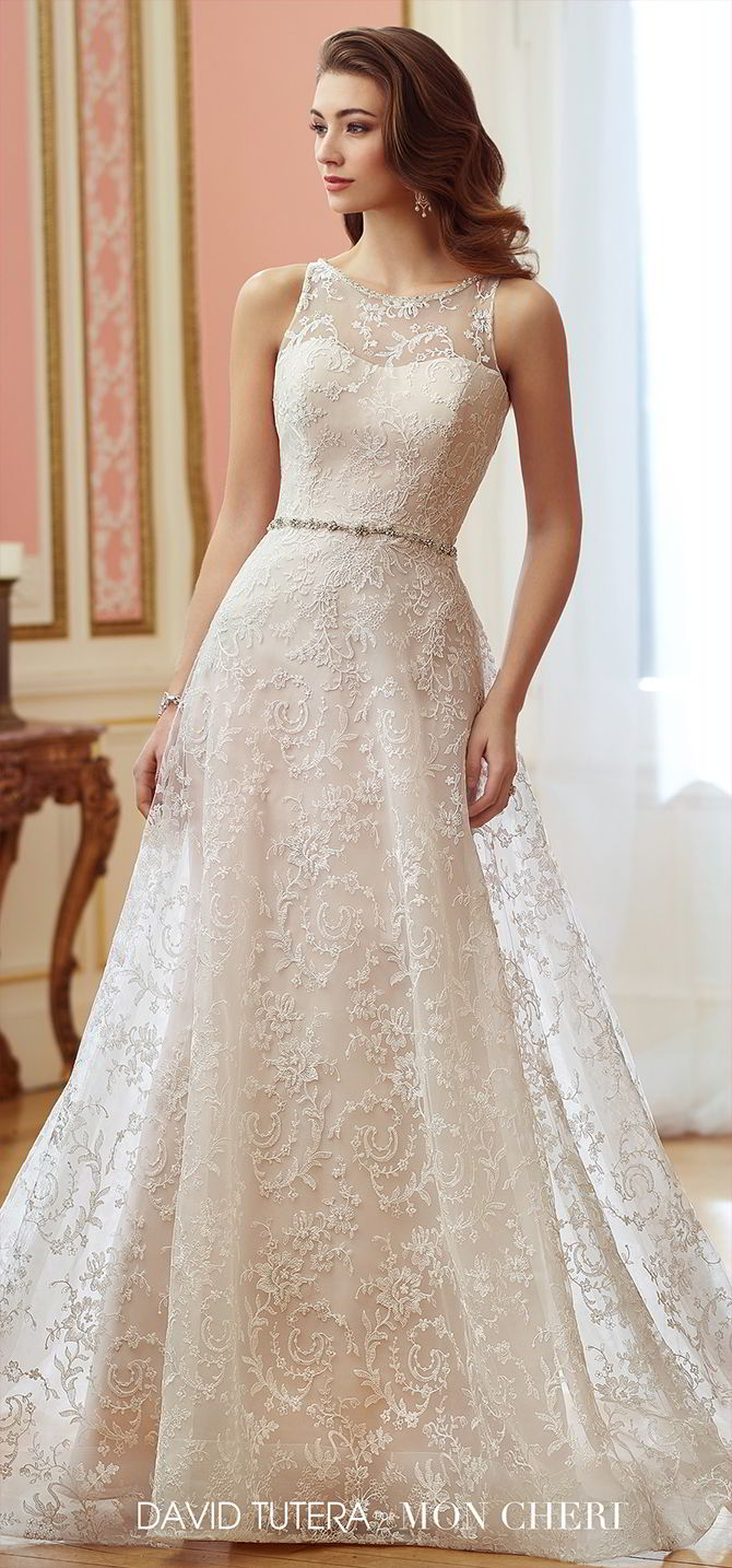 David Tutera for Mon Cheri Fall 2017 Wedding Dresses - World of Bridal