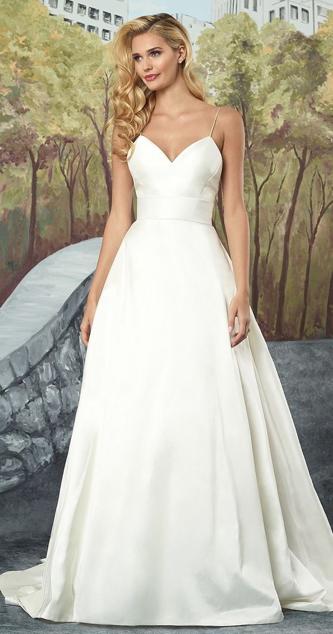 Silk A Line Wedding Dresses Thumbmediagroup