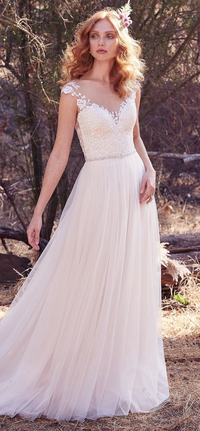 Maggie Sottero Fall 2017 Ethereal A Line Wedding Dress
