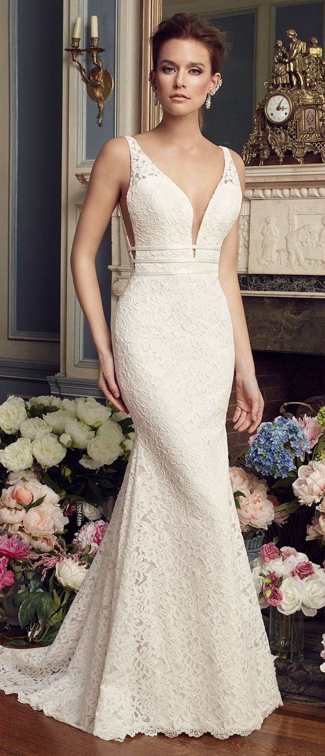 Mikaella bridal fall 2017 whimsical wedding dresses for for Fall lace wedding dress