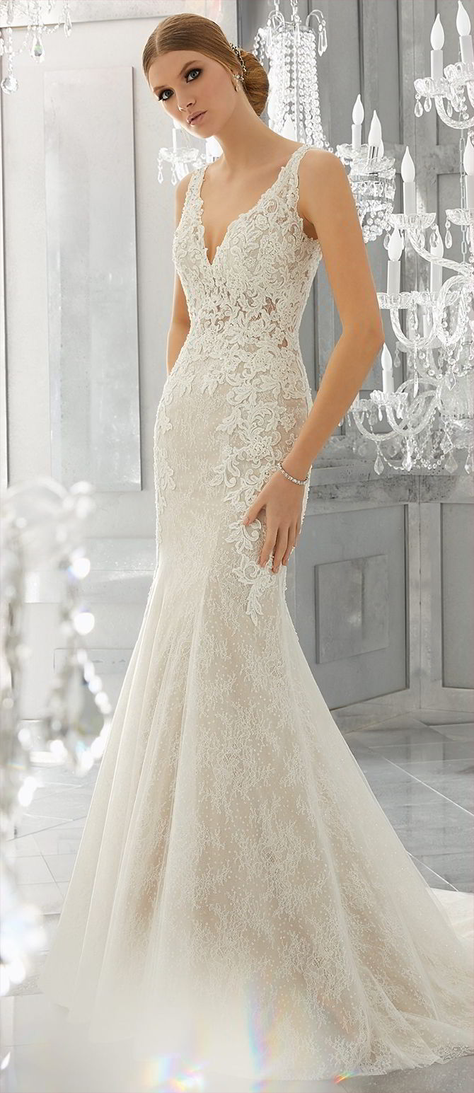 Mori Lee by Madeline Gardner Fall 2017 Beautifully Intricate Wedding Gown