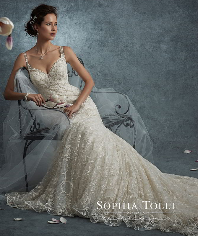 Sophia Tolli Fall 2017 Wedding Dresses - World of Bridal