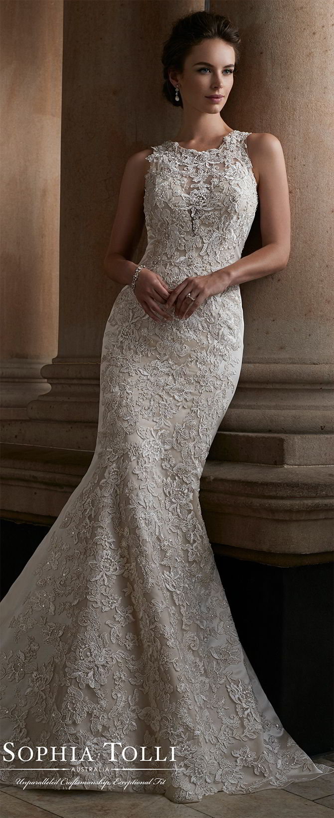 Sophia tolli fall 2017 wedding dresses world of bridal for Fall lace wedding dresses