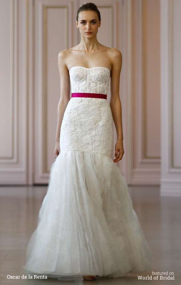 Oscar De La A Spring 2016 Wedding Dress
