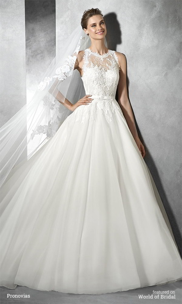 06211129a3 Full tulle skirt. Pronovias 2016 Wedding Princess style organza and lace  dress