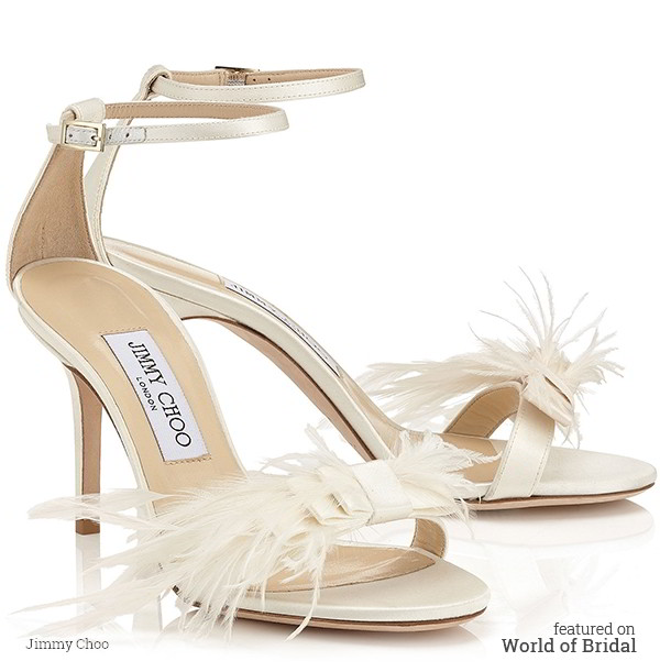 c29b2bdea9f7 This bridal shoe follows the current Red Carpet trend of a simple strappy  sandals with immaculate