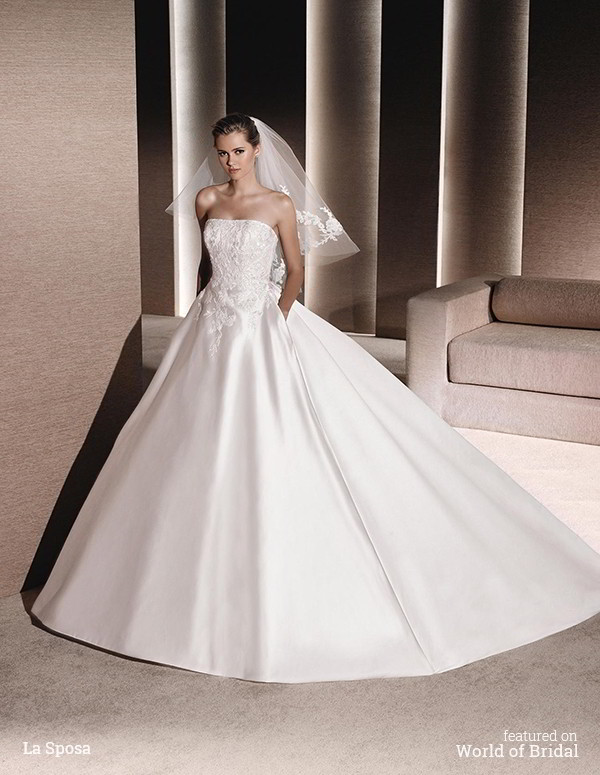 Satin Princess Wedding Dresses