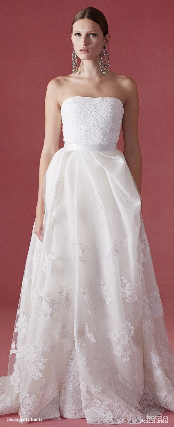 oscar de la renta wedding dress oscar de la renta fall 2016 wedding dresses world of bridal 6313