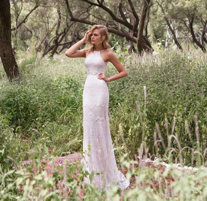 8790b0cd6608 Beautiful floral lace corset paired with a mermaid silhouette lace skirt  over blush lining Limor Rosen 2017 Wedding Dress